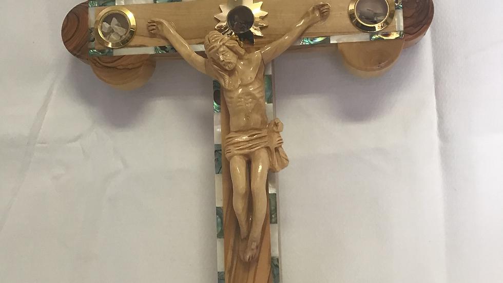 39cm Olive Wood Cross