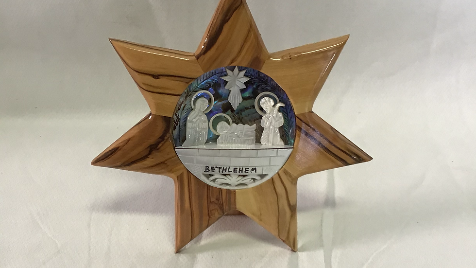 Star Mother of Pearl Nativity Set
