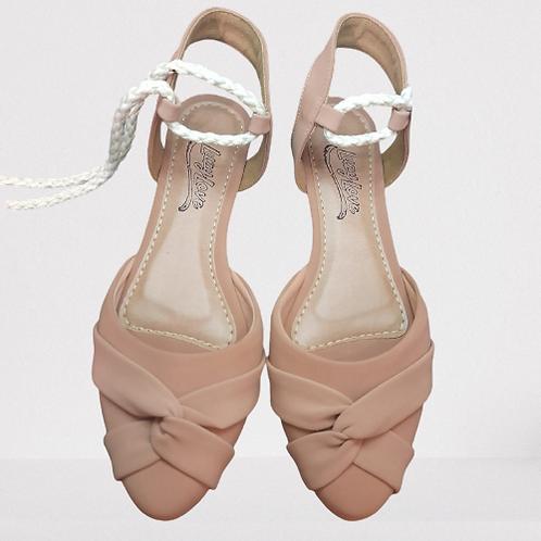 Sandália com corda - Nude