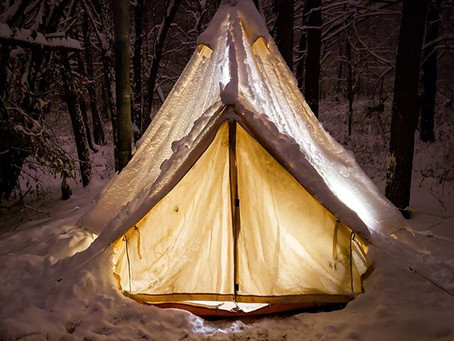 Winter Camping with a Canvas Tent and Woodstove