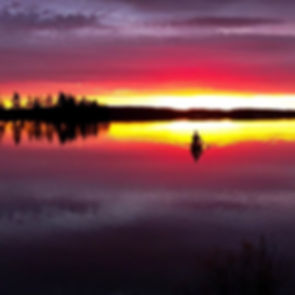 Bring on the sunrises! Lake Lavielle Alg