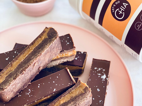 """Protein Packed Peanut Butter """"Twix"""" Bars"""