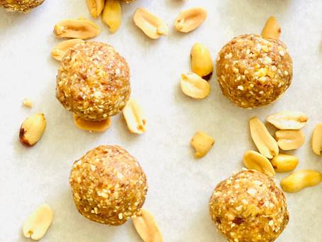 Golden Flax & Peanut Energy Balls