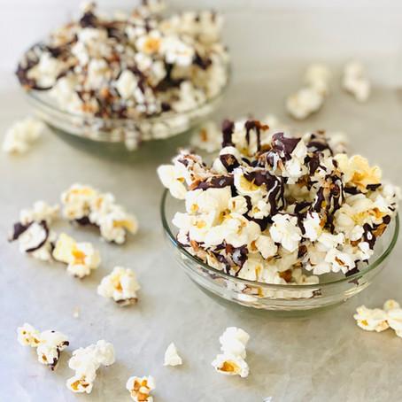 Coconut Popcorn Bark