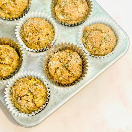 Yellow Polka Dot Zucchini Muffins