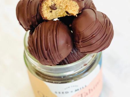 Tahini Chocolate Cookie Dough Bites