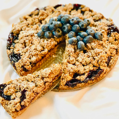 """Berry"" Delicious Oat Tart"