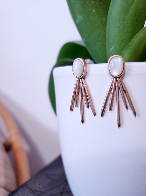 Smoky star 🌟 earrings