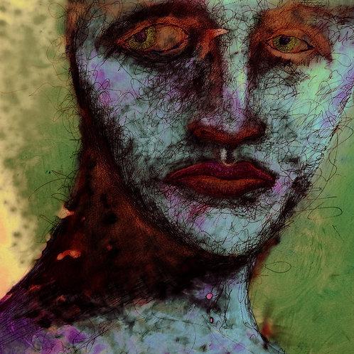 Weird Girl Framed Print