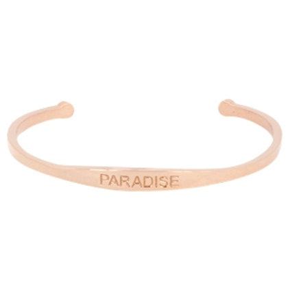 """""""Paradise"""" stainless steel bracelet (rose gold)"""
