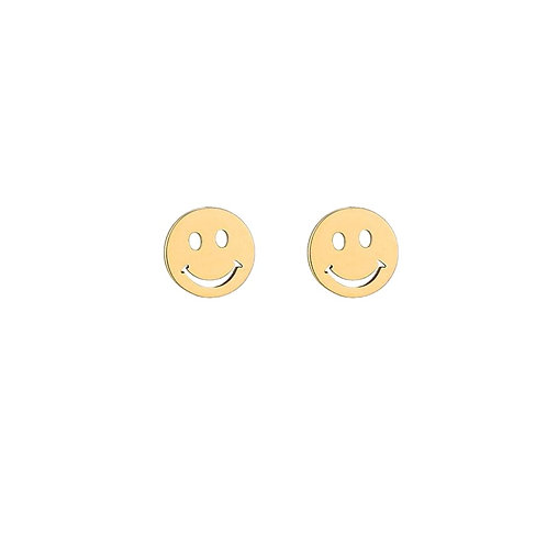 Earstuds Smiley Gold