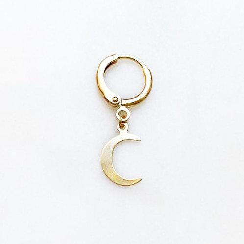 Earring Golden Moon By☆Nouck