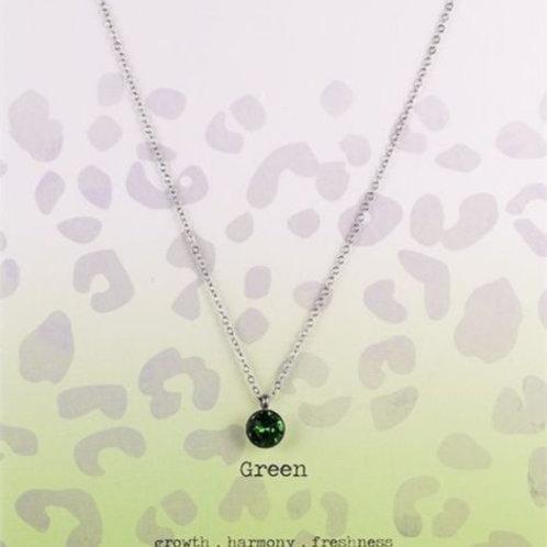 Wishdom Necklace Green / Silver
