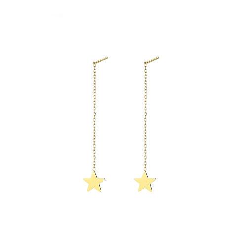 Earpin Long Star Gold