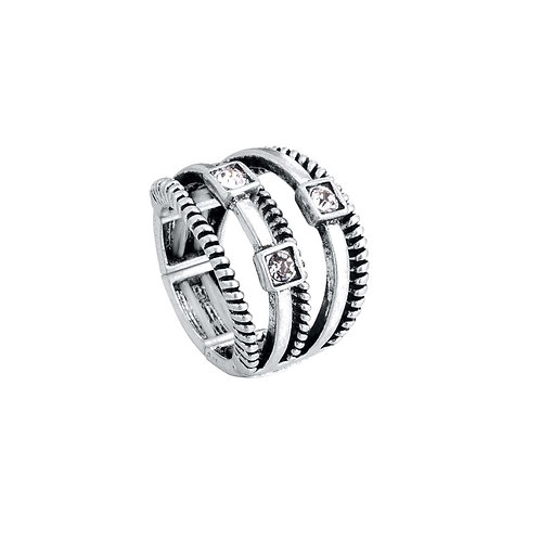 Ring 3 Stone Silver