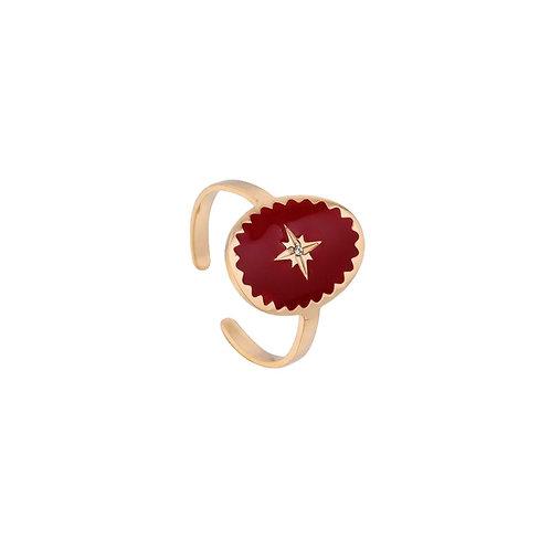 Ring Red Star Rose