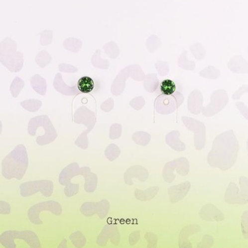 Wishdom Green Earstuds Gold