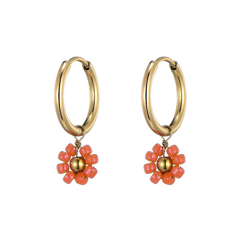 Hoops Daisy Coral Gold