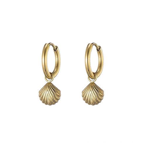 Hoops Mini Shell Gold