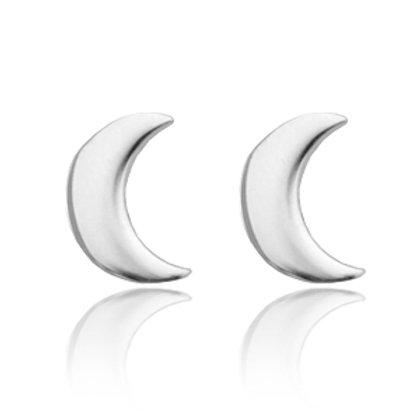 Moon stainless steel earrings (silver)