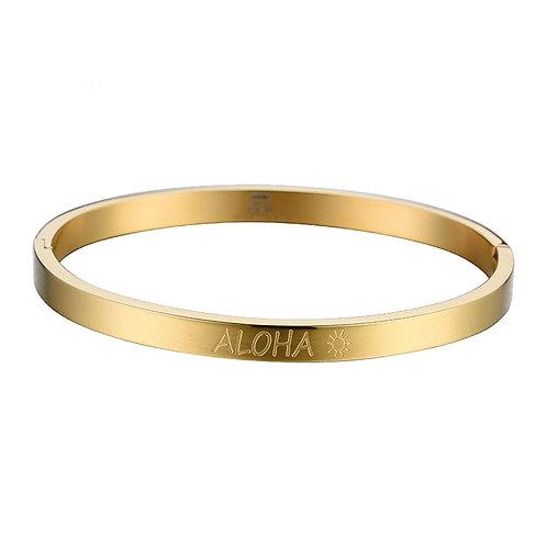 Aloha Bangle  Gold