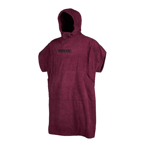 Poncho Oxblood Red