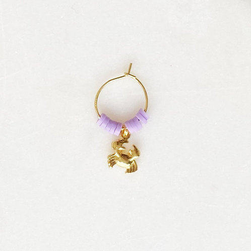 Surf Earring Crabby Lilac By☆Nouck