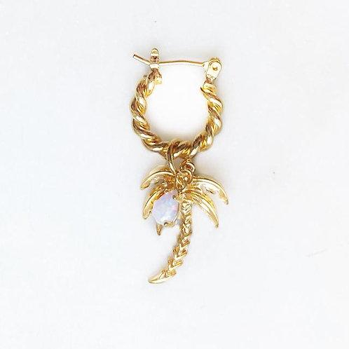 Twisted Hoop Palmtree Opal By☆Nouck