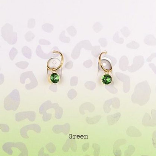 Wishdom Green Earrings Gold