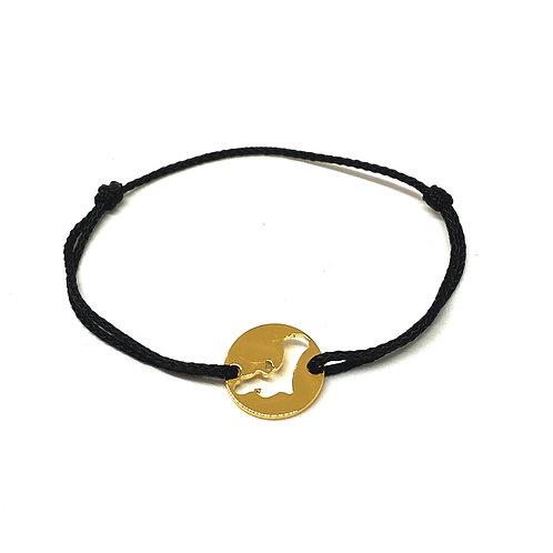 Bonaire Simple Black Gold 20mm