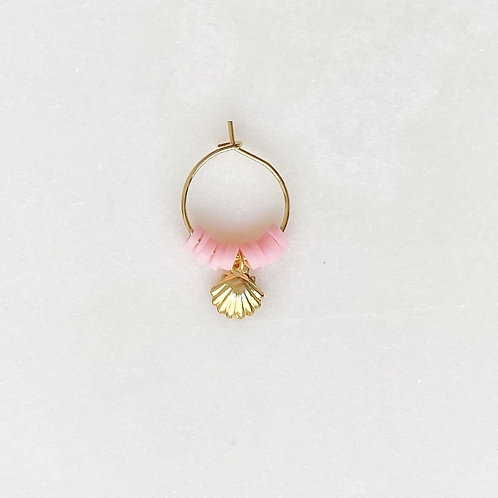 Surf Earring Shell Pink By☆Nouck