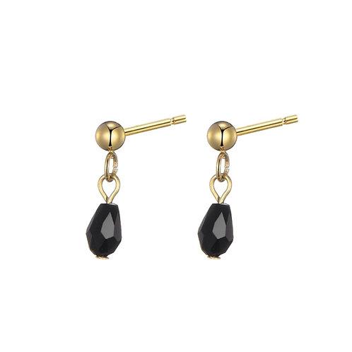 Earpin Black Stone Gold