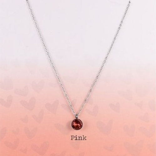 Wishdom Necklace Pink / Silver