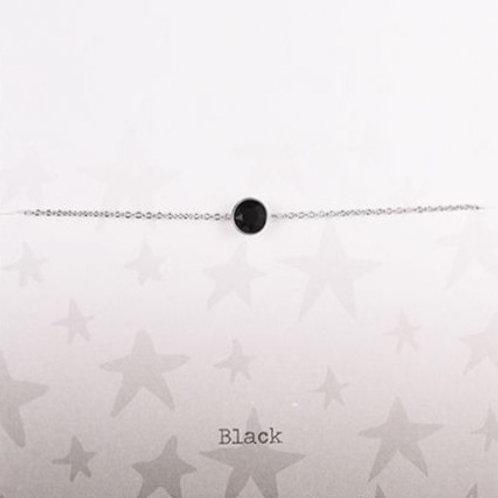 Wishdom Black Bracelet Silver