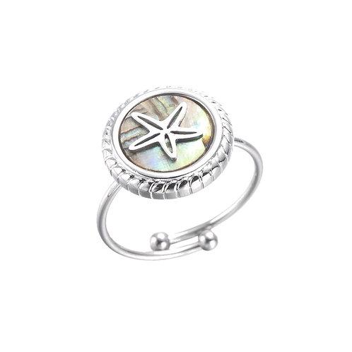 Ring Starfish Grey Silver