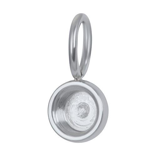 Charm Top part base Silver