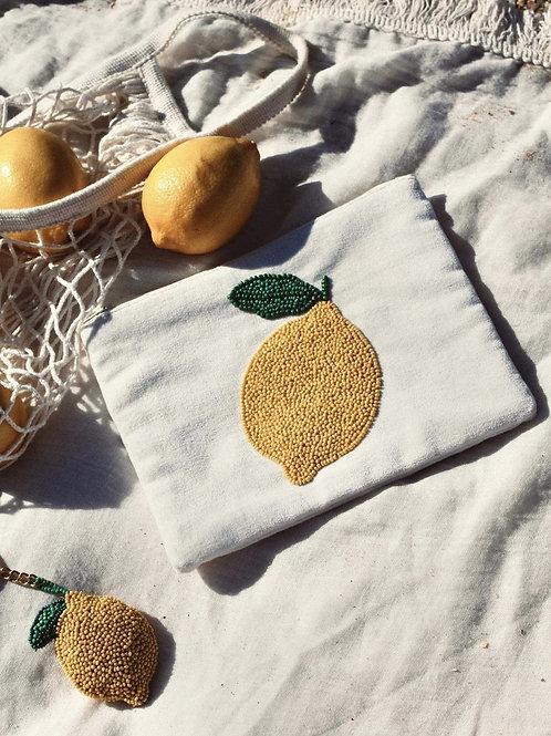 Velvet Pouch Lemon