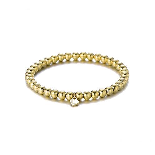 Plain Ball Bracelet Gold