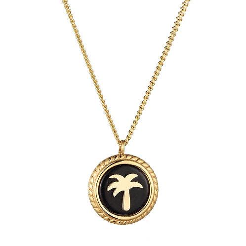 Palmtree Necklace Gold / Black