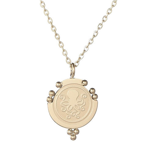 Octopus Necklace Gold