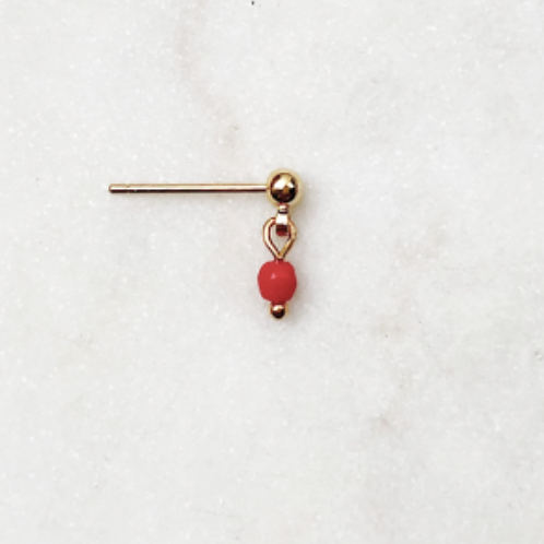 Earpin Red Coral By☆Nouck