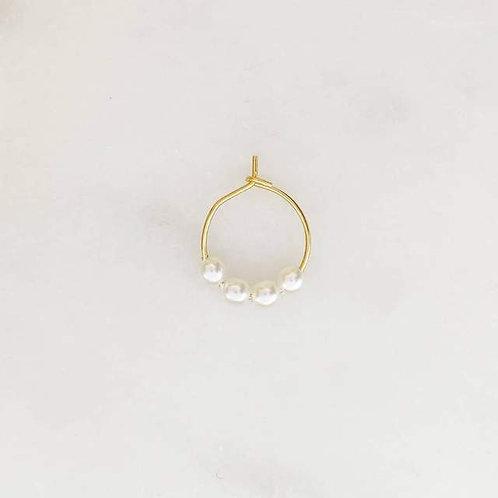 Thin Earring Pearls By☆Nouck