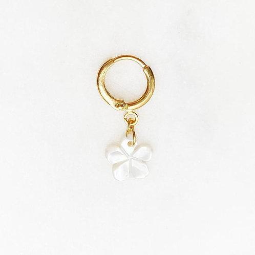 Earring Flower Pearl By☆Nouck