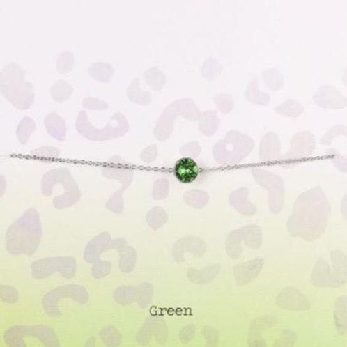 Wishdom Green Bracelet Silver