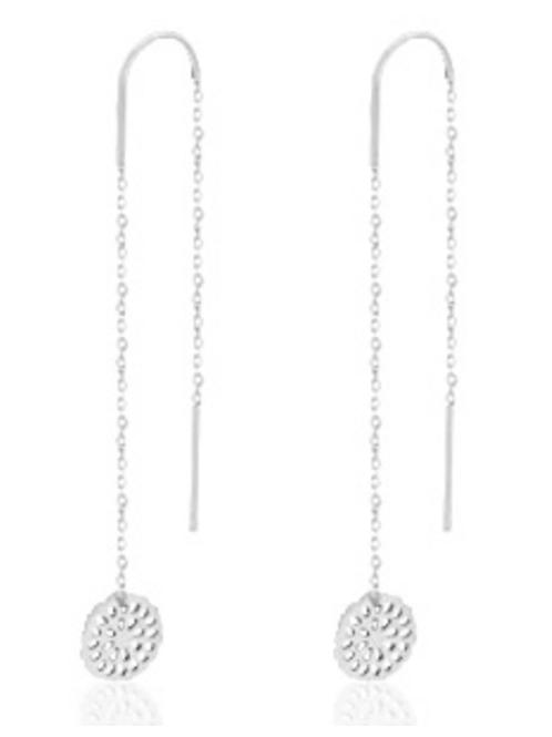 Mandala Silver Earrings
