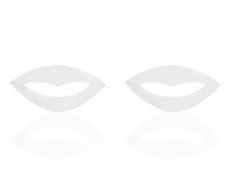 Kiss Kiss stainless steel earrings (silver)
