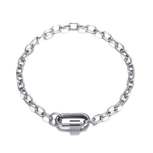 D Chain Bracelet Silver