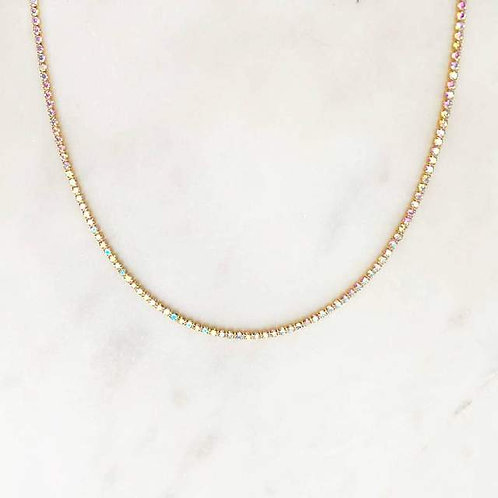 Opalesque Rhinestone Necklace By☆Nouck