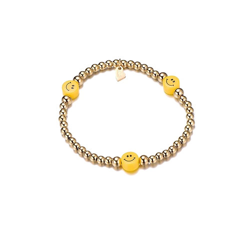 Smiley Yellow Bracelet Gold