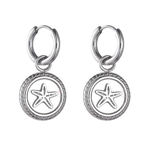 Hoops Starfish White / Silver